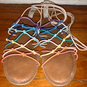Multi Colored Cord Sandals
